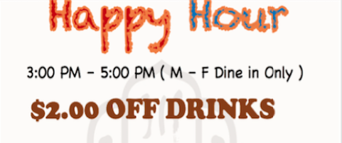 $2.00 Off Drinks