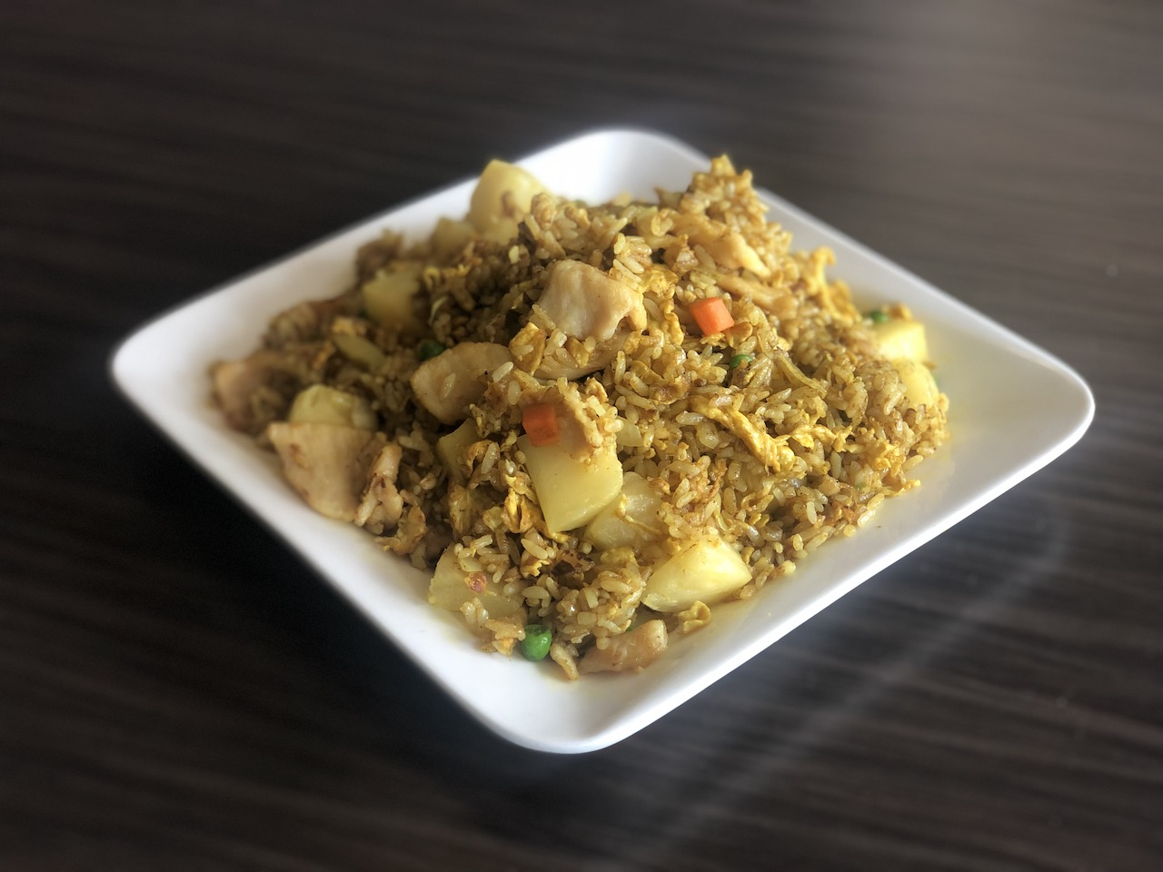 Pineapple Curry Fried Rice (Chicken)